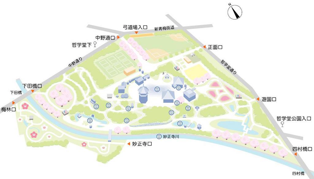 TETSUGAKUDO.JP哲学堂公園マップより